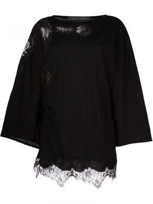 Расклешенная блузка с вырезными деталями Alberta Ferretti. Цвет: чёрный