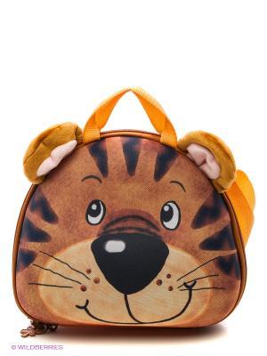Сумка Тигренок Okiedog Wild Pack. Цвет: оранжевый
