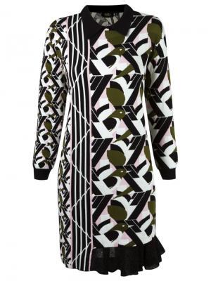 Geometric pattern knit dress Gig. Цвет: многоцветный