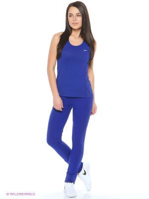 Топ DRI-FIT CONTOUR TANK Nike. Цвет: синий