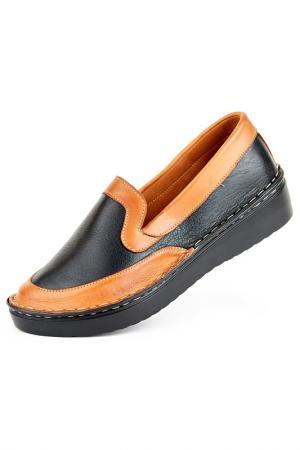 Туфли Norka. Цвет: черно-коричневый