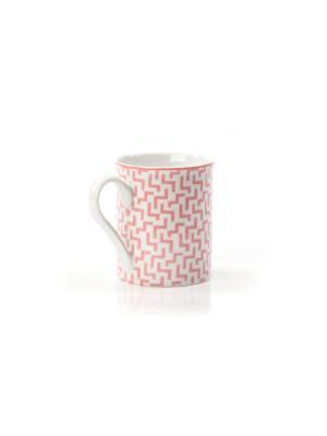 Кружка TUNISIE PORCELAINE. Цвет: розовый