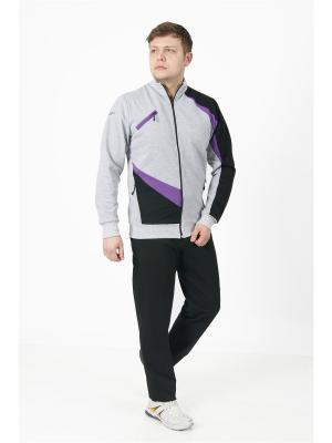 Костюм спортивный мужской CROSS sport. Цвет: серый меланж