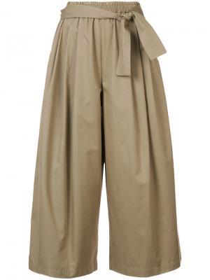 Укороченные брюки-палаццо Tome. Цвет: телесный