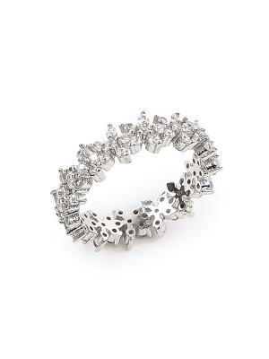 Кольцо с цветочным узором Exclaim. Цвет: серебристый