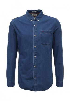 Рубашка джинсовая Tommy Hilfiger Denim. Цвет: синий