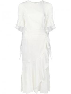 Платье с оборками Goen.J. Цвет: белый