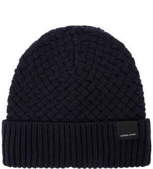 Шерстяная вязаная шапка Canada Goose. Цвет: синий