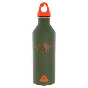 Бутылка для воды  Camp Vibes M8 Diamond St Army Green Orange Print Mizu. Цвет: зеленый