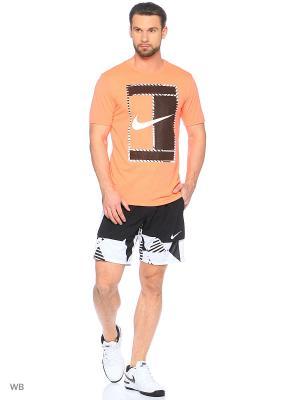 Футболка M NKCT DRY TEE DBL 2 Nike. Цвет: оранжевый