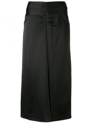Юбка миди с плиссировкой Isabel Marant. Цвет: чёрный
