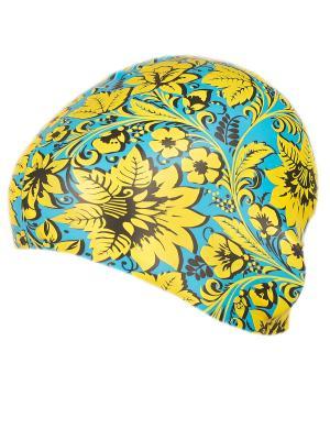 Шапочка для плавания VSWorld детская VS. Цвет: голубой, желтый