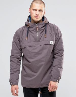 Fat Moose Куртка через голову со стеганой подкладкой Sailor. Цвет: коричневый