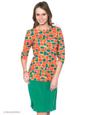 Платье Neohit. Цвет: зеленый, оранжевый, желтый