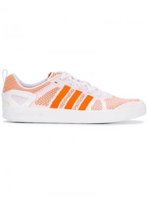 Кеды Adidas Originals X  Pro Primeknit Palace. Цвет: жёлтый и оранжевый