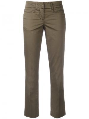 Укороченные расклешенные брюки Dondup. Цвет: зелёный