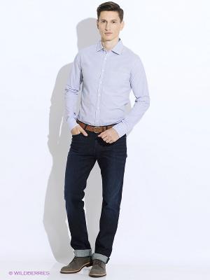 Рубашка Westrenger. Цвет: темно-синий