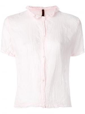 Прозрачная блузка Daniela Gregis. Цвет: розовый и фиолетовый