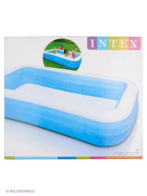 Надувной бассейн  Фэмили , Intex. Цвет: синий