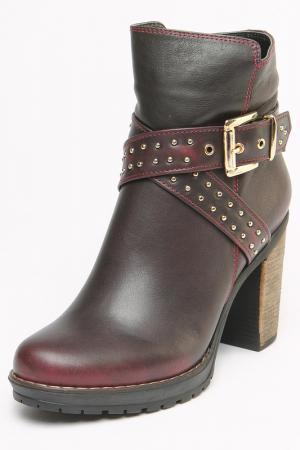 Ботинки OSSO. Цвет: темно-бордовый