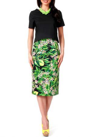 Комплект: юбка, блузка Argent. Цвет: мультицвет