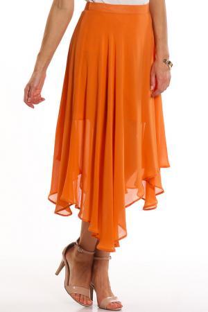 Юбка VIS-A-VIS. Цвет: оранжевый