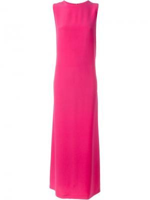 Платье без рукавов Gianluca Capannolo. Цвет: розовый и фиолетовый