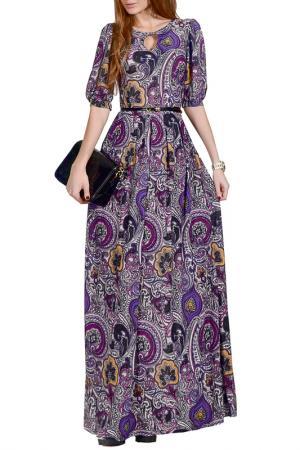Длинной платье с принтом FRANCESCA LUCINI. Цвет: фиолетовый, анталия