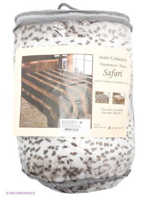 Плед Leopard Jardin. Цвет: белый, темно-бежевый