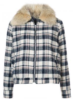 Checked shearling jacket Jenni Kayne. Цвет: синий