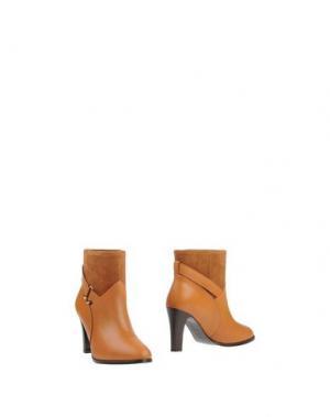 Полусапоги и высокие ботинки MYSUELLY. Цвет: желто-коричневый