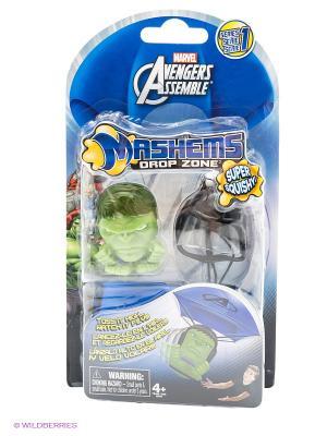 Детский игровой набор Мстители, в наборе парашют и игрушка-мялка Marvel. Цвет: зеленый