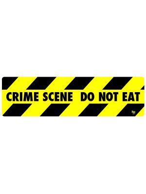 Магнит на холодильник Crime Scene Donkey. Цвет: черный, желтый