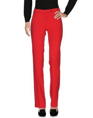 Повседневные брюки GLAM CRISTINAEFFE. Цвет: красный