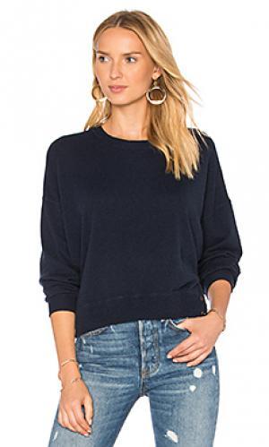 Свитер с рукавами-доломан и асимметричным подолом Autumn Cashmere. Цвет: синий