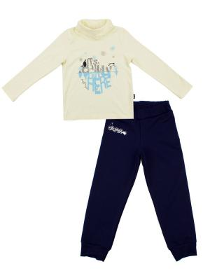 Джемпер, брюки Апрель. Цвет: молочный, темно-синий