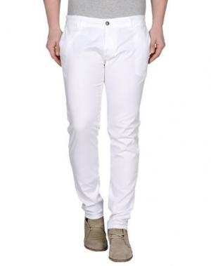 Повседневные брюки 1° GENITO. Цвет: белый