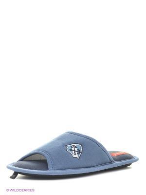Тапочки De Fonseca. Цвет: серо-голубой