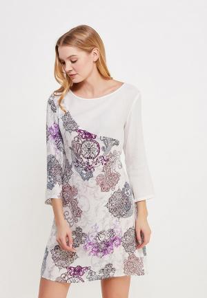 Платье домашнее Mia-Mia. Цвет: белый