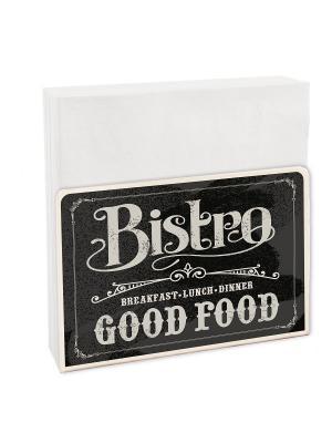 Салфетница кухонная Contento. Цвет: черный, белый