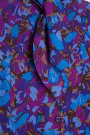 Шерстяное платье (1980-е) Guy Laroche Vintage. Цвет: синий