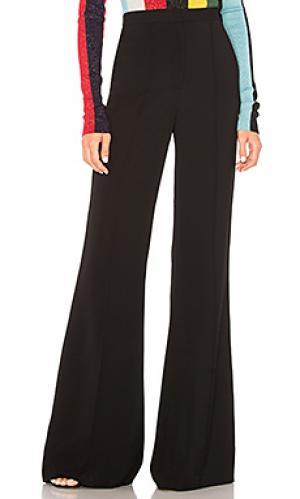 Расклешенные брюки pleat front Diane von Furstenberg. Цвет: черный