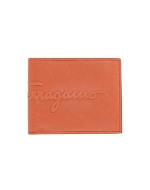 Бумажник SALVATORE FERRAGAMO. Цвет: желто-коричневый
