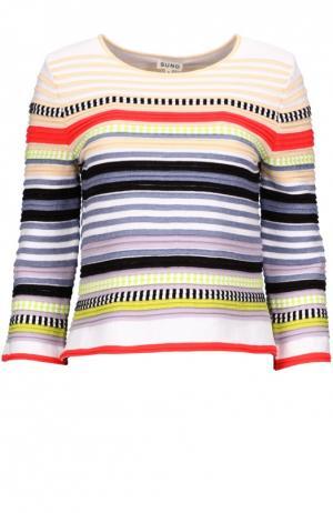 Вязаный пуловер Suno. Цвет: разноцветный
