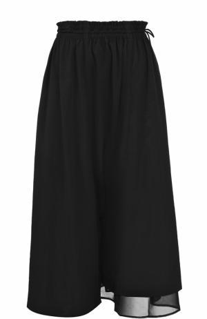 Укороченные брюки с эластичным поясом Yohji Yamamoto. Цвет: черный