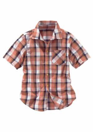 Рубашка Arizona. Цвет: оранжево-красный