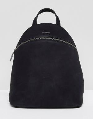 Matt & nat Черный рюкзак из искусственной замши Aries. Цвет: черный