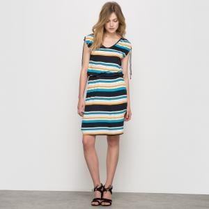 Платье из трикотажа R édition. Цвет: в полоску