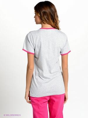 Комплект одежды Vienetta Secret. Цвет: серый меланж, фуксия