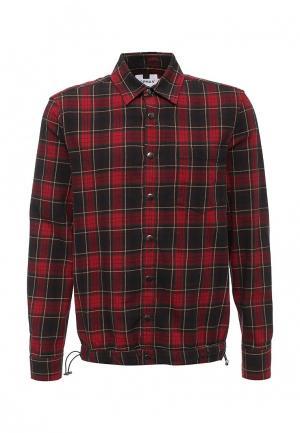 Рубашка Topman. Цвет: красный